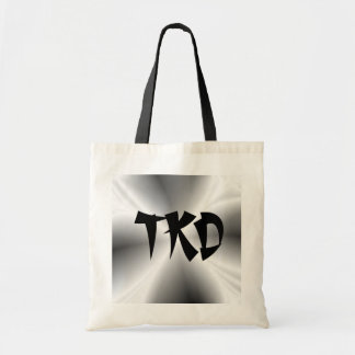 Faux Silver TKD Canvas Tote Bag
