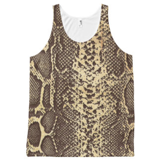 Faux Snake Skin All-Over-Print Tank Top