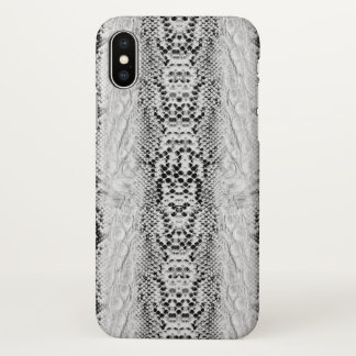 Faux Snake Skin Black and White iPhone X Case