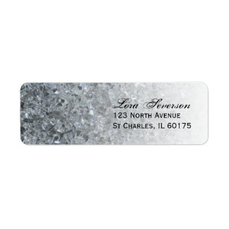 Faux Sparkle Return Address