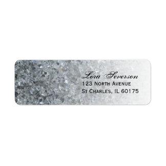 Faux Sparkle Return Address Return Address Label
