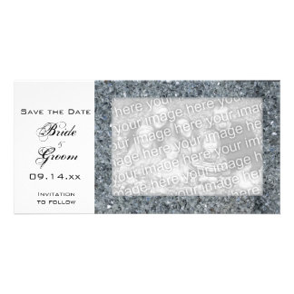 Faux Sparkle Wedding Save the Date Photo Cards