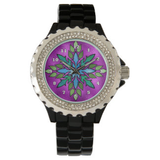 Faux Stained Glass womens watch