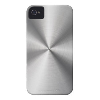 Faux Stainless Steel Metal iPhone 4 Case