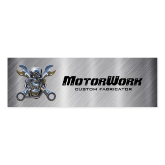 Faux Stainless Steel Motorcycle Business Card