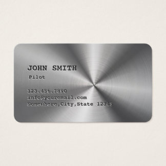 Faux Stainless Steel Pilot/Aviator Business Card