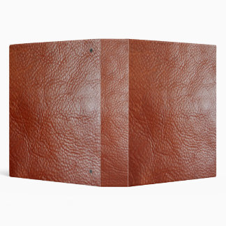 Faux Tanned Leather Avery Binder