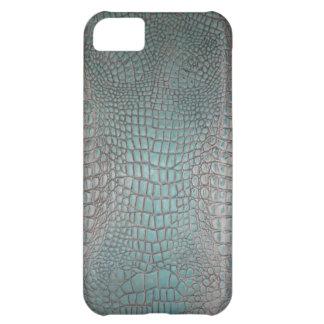 Faux Teal Alligator Skin hide pattern iphone5 case