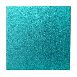 Faux Teal Blue Glitter Background Sparkle Texture Tiles