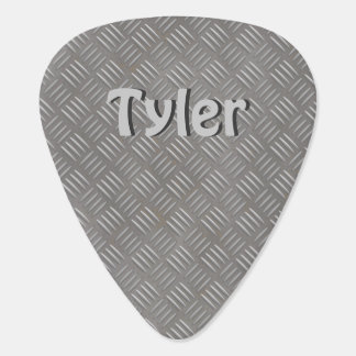 Faux Textured Metal Guitar Pick Personalized Name