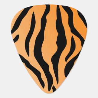 Faux Tiger Print Guitar Pick