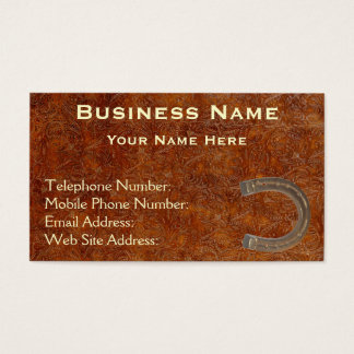 Faux Tooled Leather Western style IV Biz Cards
