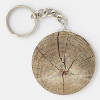 Faux Tree Rings Background Basic Round Button Keychain