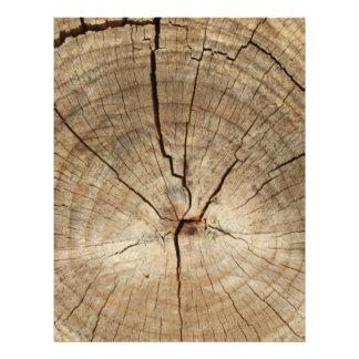 Faux Tree Rings Background Custom Letterhead