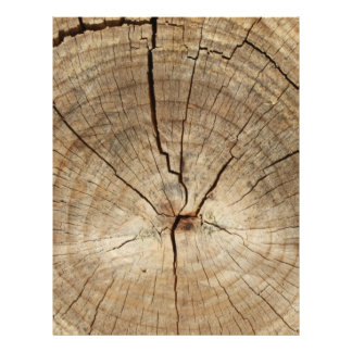 Faux Tree Rings Background Letterhead