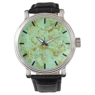 Faux Turquoise stone face watch