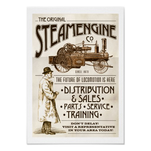 Faux Victorian Steam Engine Co poster