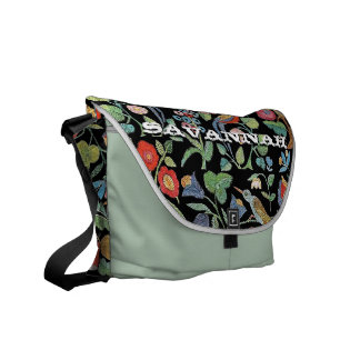 Faux Vintage Embroidery- You Choose Colors Courier Bags