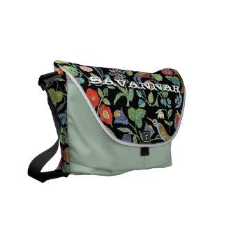 Faux Vintage Embroidery- You Choose Colors Courier Bags