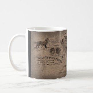 Faux Vintage Label Coffee Mug Sepia Biscuit Ad