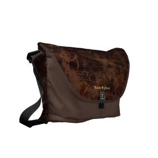 Faux Vintage Leather Custom Personalized Book / Commuter Bags
