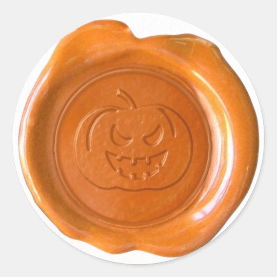 Faux Wax Seal - Orange - JACK-O-LANTERN 01