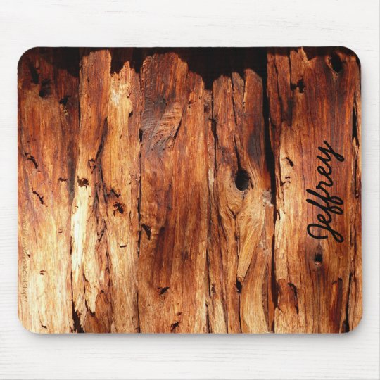 Faux Weathered Wood Siding Rustic Custom Mousepad Zazzle Ca