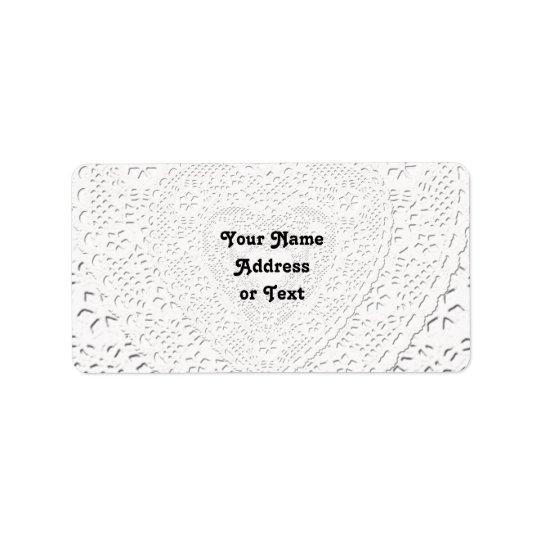 Faux White Lace Fabric Background