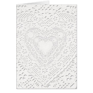 Faux White Lace Fabric Background Card
