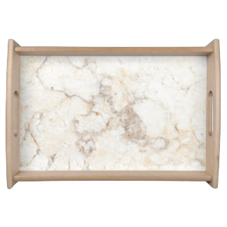 Faux White Marble Texture Serving Tray