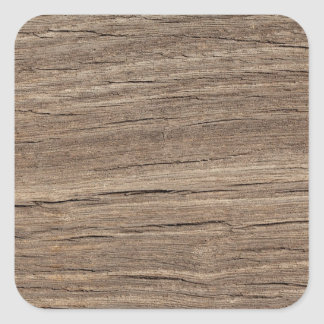 Faux Wood Grain Square Sticker