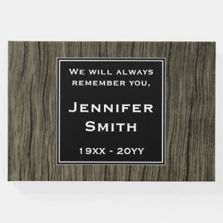 Faux Wood Look, Mournful Sympathies Guestbook