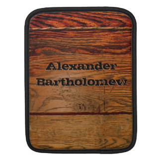 Faux Wood Oak Plank Country Western iPad Case Sleeve For iPads