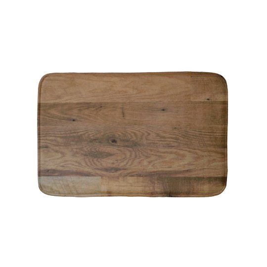 Faux Wood Planks Bath Mat