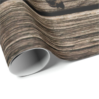 Faux wood Rustic pattern wrapping paper