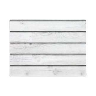 Faux Wood Slats | White | Customizable Doormat