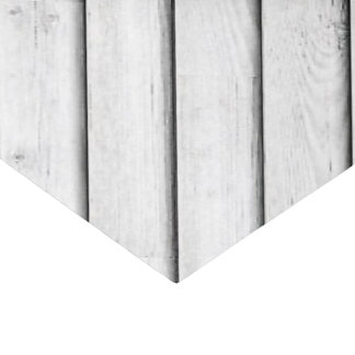 Faux Wood Slats | White | Customizable Tissue Paper