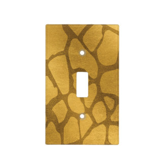 Faux Yellow Gold Giraffe Print Light Switch Cover