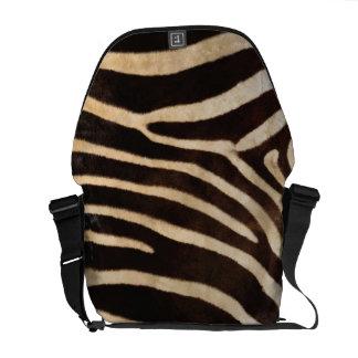 Faux Zebra Stripe Fur Courier Bag