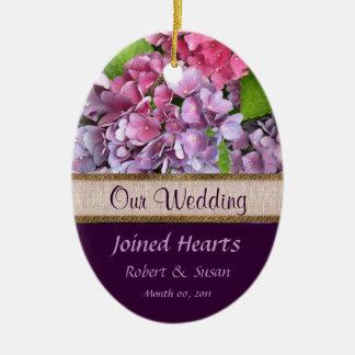 Faveur de mariage d hortensia ornement de noël