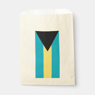 Favor bag with flag of Bahamas