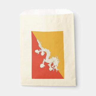 Favor bag with flag of Bhutan