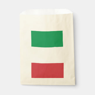 Favor bag with flag of Italy