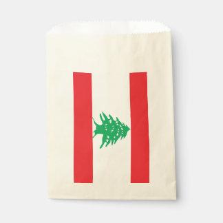 Favor bag with flag of Lebanon