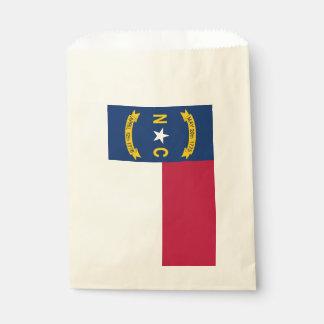 Favor bag with flag of North Carolina, USA