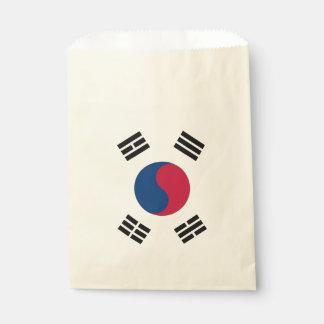 Favor bag with flag of South Korea