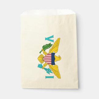 Favor bag with flag of Virgin Islands, USA