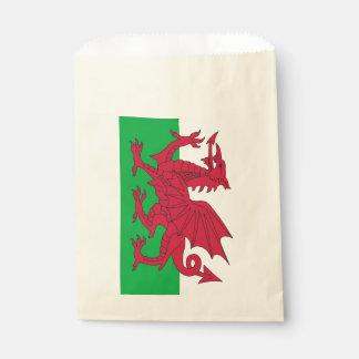 Favor bag with flag of Wales, United Kingdom