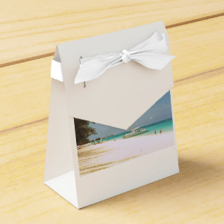 Favor Box with Beach Scene
