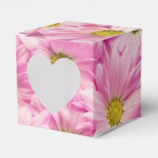Favor/Gift Box - Pink Gerbera Daisies